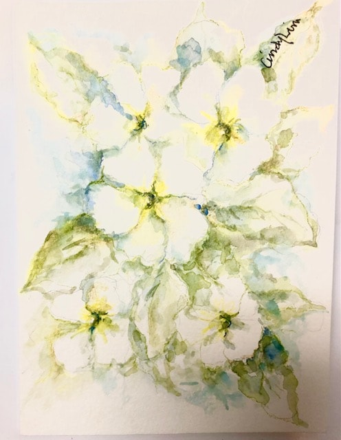 Original Water Colours Greeting Card