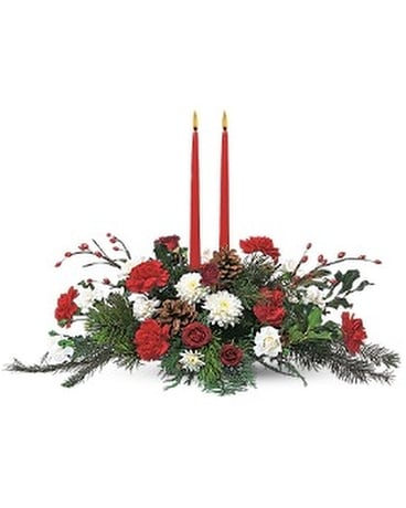 Holiday Delight Centerpiece Flower Arrangement