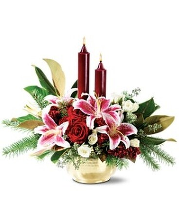 Illumination Lilies Flower Arrangement