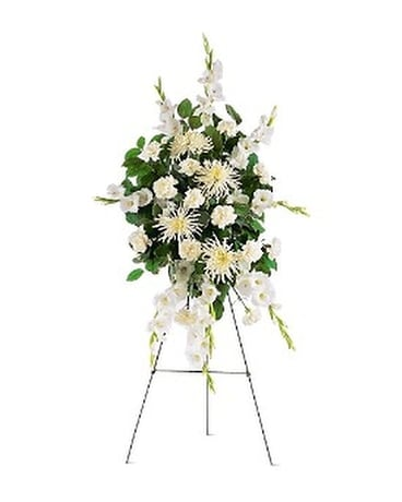 White Promises Spray Flower Arrangement