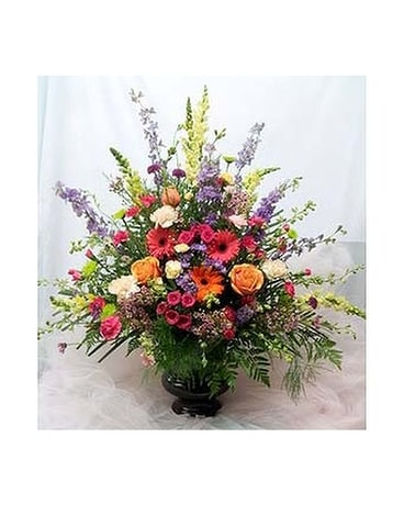 Vibrant Urn Arrangement Flower Arrangement