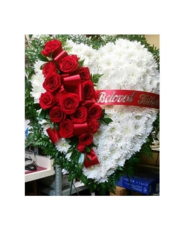 Full Large Heart Flower Arrangement