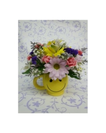 Thank You Coffee Mug Flower Arrangement