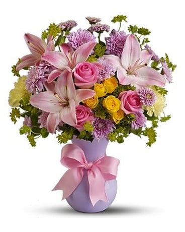 Teleflora's Perfectly Pastel - Deluxe Flower Arrangement