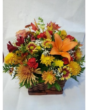 Autumn Large Garden Basket Flower Arrangement