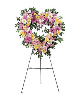 Loving Heart Tribute Flower Arrangement