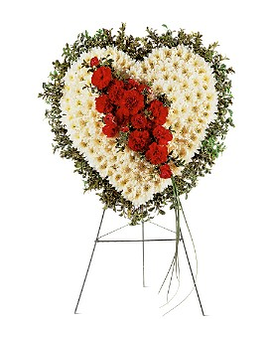 Tribute Heart Flower Arrangement