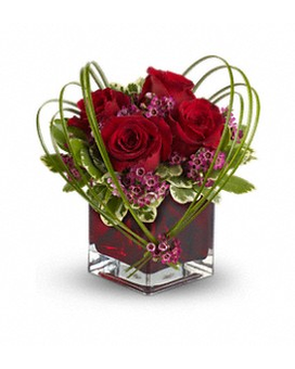 Teleflora's Sweet Thoughts Bouquet with Red Roses Flower Arrangement