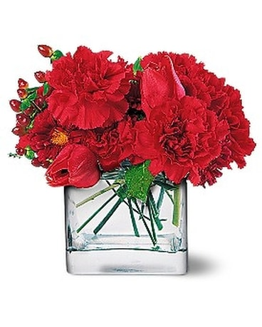 Passionate Reds Flower Arrangement