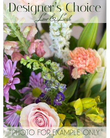 Designer's Choice Low & Lush Flower Arrangement