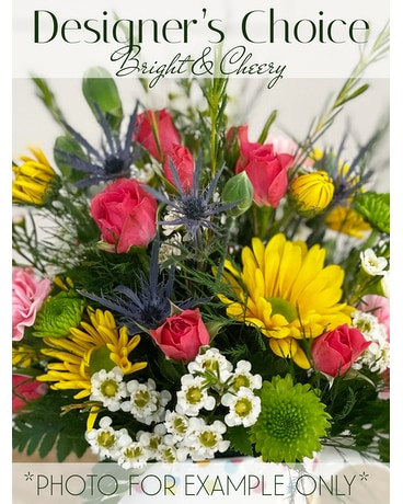 Designer's Choice Bright & Cheery Flower Arrangement