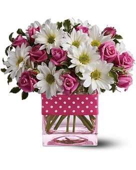 Teleflora's Polka Dots and Posies Flower Arrangement