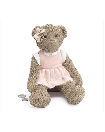 Teddy Bear Bank Girl