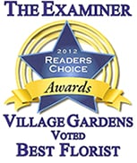 The Examiner voted best florist by reader's choice 2012
