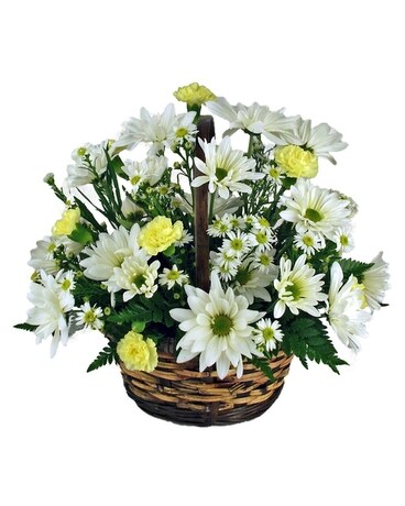 Yellow & White Daisy Basket