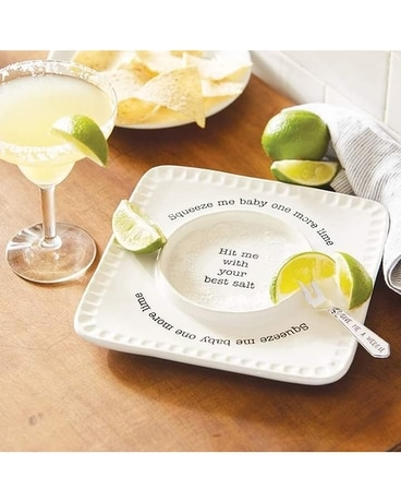 Margarita Tray Flower Arrangement