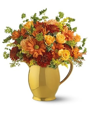 Teleflora's WILLIAMSBURG® Golden Pitcher Flower Arrangement