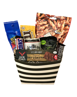 Guy's Night In Gift Basket