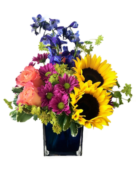 Brightly Blooming Flower Arrangement