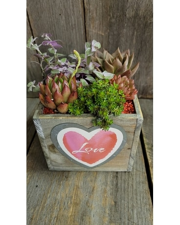 Rustic Love Flower Arrangement