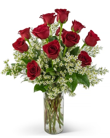 Swoon Over Me Dozen Roses Flower Arrangement