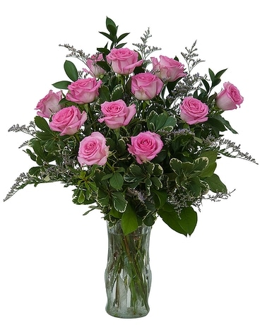 Pink Rose Perfection Flower Arrangement