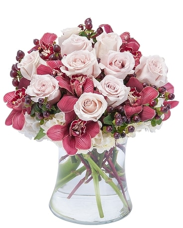 Sweet Plum Persuasions Flower Arrangement