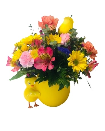 Colorful Chick Flower Arrangement