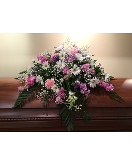 Casket Spray 21 Flower Arrangement