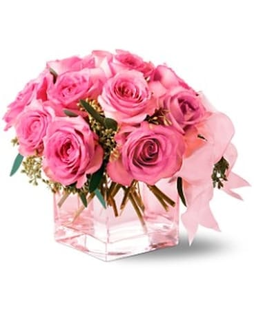 Pink on Pink Flower Arrangement