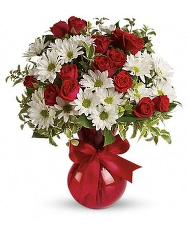 Red White And You Bouquet Flower Arrangement
