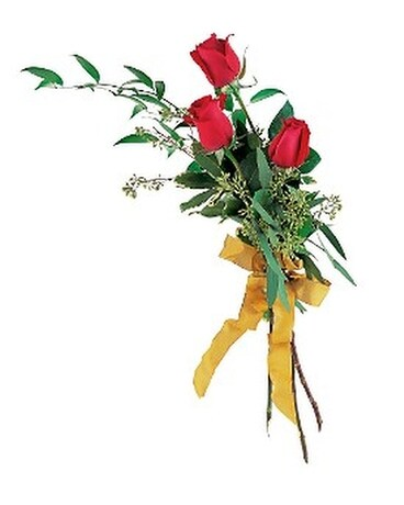 Touch of Red Roses Flower Arrangement