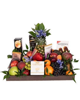 Quick view Fruit, Chocolate, Cheese & Cracker Tray Gift Basket