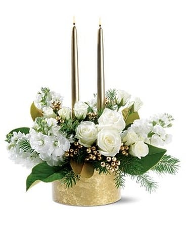 Golden Lights Flower Arrangement