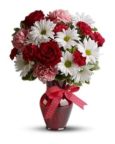 Hugs and Kisses Flower Arrangement