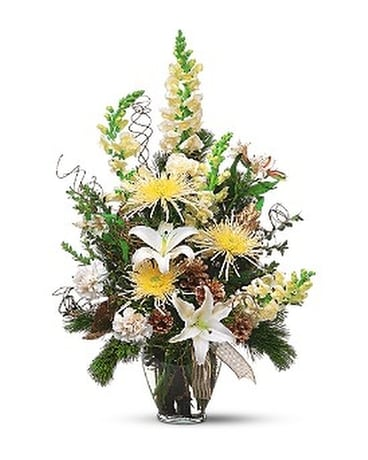 White & Gold Arrangement Flower Arrangement