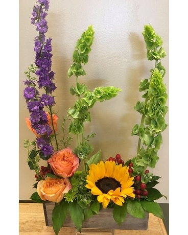 Fall Sunset Flower Arrangement
