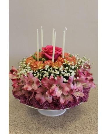 Admirable Floral Cake In Mesa Az Sophia Floral Designs Funny Birthday Cards Online Chimdamsfinfo