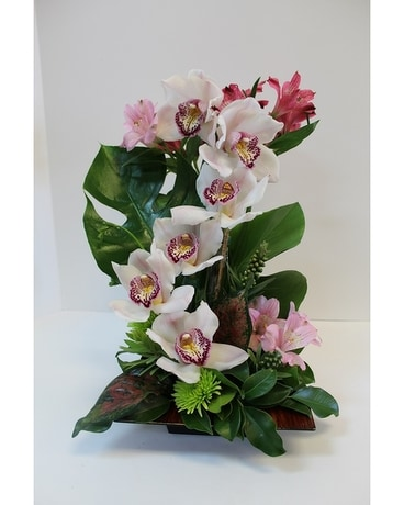 Orchids River Flower Arrangement