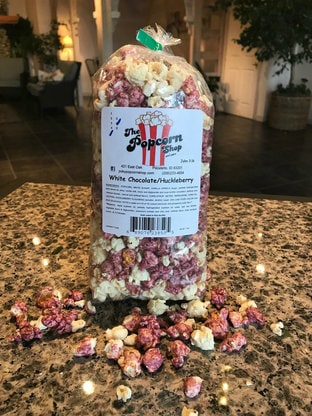 White Chocolate Huckleberry Popcorn