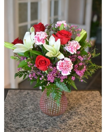 Tickle Me Pink Flower Arrangement