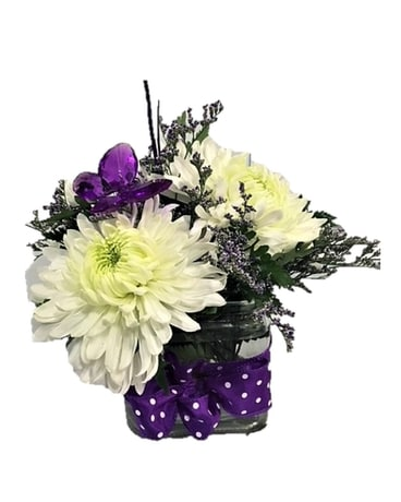 Polka Dots and Butterflies Flower Arrangement