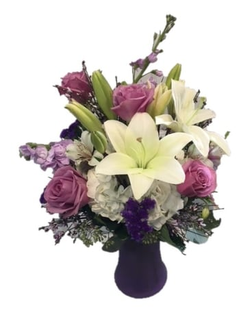 Precious Purples Flower Arrangement