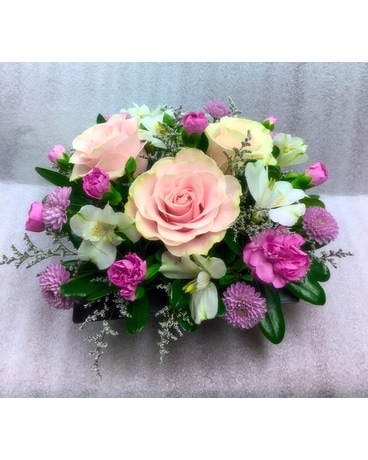 Delightful Dish Flower Arrangement