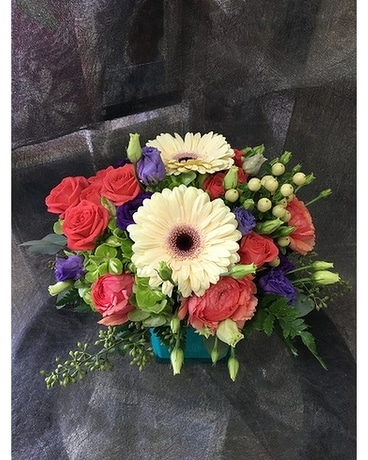 The Happy Blooms Basket by Vivian Flower Arrangement