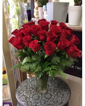 Beautiful 24 red roses in vase Flower Arrangement