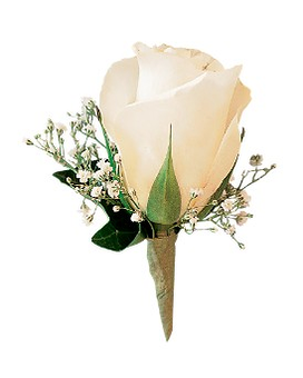White Ice Rose Boutonniere (TF161-2) Flower Arrangement