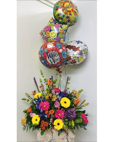 HAPPY BIRTHDAY EXPLOSION Flower Arrangement
