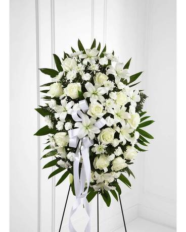 Exquisite Tribute Standing Spray Sympathy Arrangement