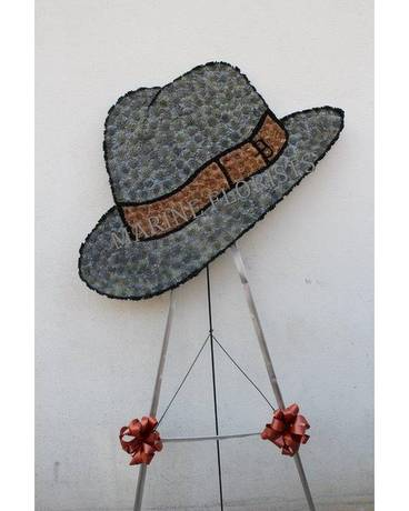 Funeral Custom - Fedora Hat in Brooklyn NY - Marine Florists 9022b79597b
